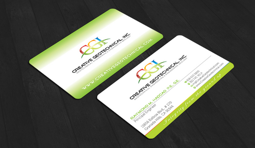Integrity from the Ground Up Business Cards and Stationery  Draft # 146 by waterdropdesign
