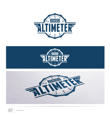 Altimeter 2992 A Logo, Monogram, or Icon  Draft # 5 by apstudio