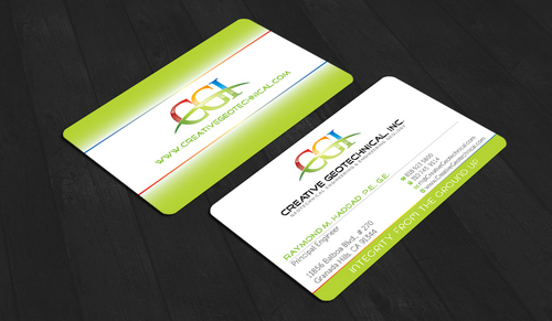 Integrity from the Ground Up Business Cards and Stationery  Draft # 149 by waterdropdesign