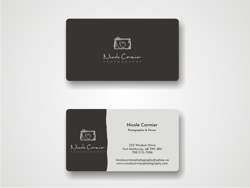 Nicole Cormier Photography Business Cards and Stationery  Draft # 13 by iislogo
