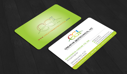 Integrity from the Ground Up Business Cards and Stationery  Draft # 151 by waterdropdesign