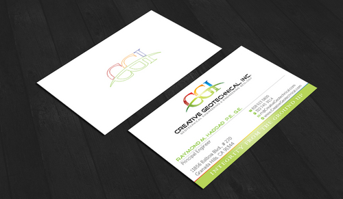 Integrity from the Ground Up Business Cards and Stationery  Draft # 155 by waterdropdesign