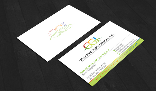 Integrity from the Ground Up Business Cards and Stationery  Draft # 156 by waterdropdesign
