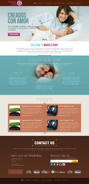 MIRACLE BABY Complete Web Design Solution  Draft # 3 by timefortheweb
