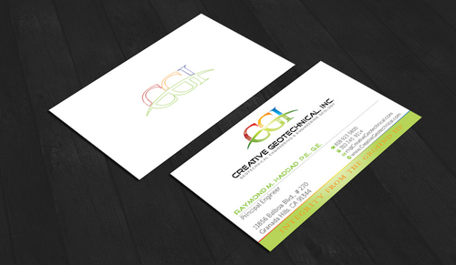 Integrity from the Ground Up Business Cards and Stationery  Draft # 158 by waterdropdesign