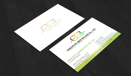 Integrity from the Ground Up Business Cards and Stationery  Draft # 161 by waterdropdesign