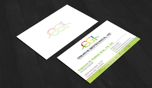 Integrity from the Ground Up Business Cards and Stationery  Draft # 168 by waterdropdesign
