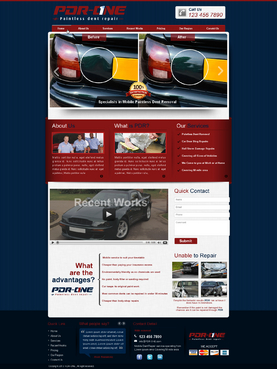 PDR-ONE Paintless dent repair Complete Web Design Solution  Draft # 17 by makeglow