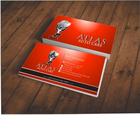 Atlas Auto Care Business Cards and Stationery  Draft # 85 by Deck86