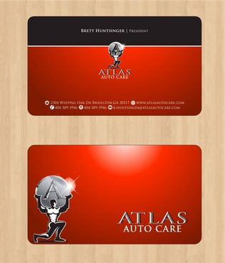 Atlas Auto Care Business Cards and Stationery  Draft # 92 by Deck86