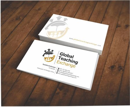 Global Teaching Exchange Business Cards and Stationery  Draft # 142 by Deck86