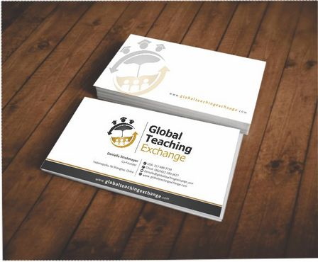 Global Teaching Exchange Business Cards and Stationery  Draft # 143 by Deck86