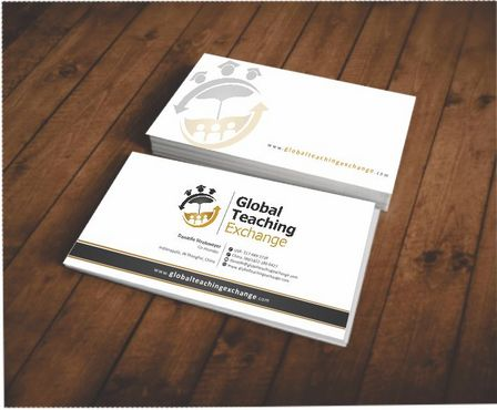 Global Teaching Exchange Business Cards and Stationery  Draft # 146 by Deck86