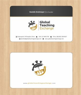Global Teaching Exchange Business Cards and Stationery  Draft # 154 by Deck86