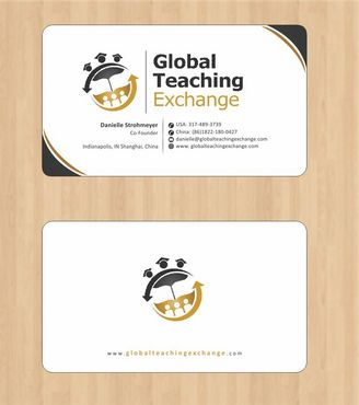 Global Teaching Exchange Business Cards and Stationery  Draft # 156 by Deck86