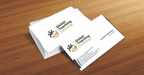 Global Teaching Exchange Business Cards and Stationery  Draft # 157 by Deck86
