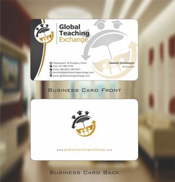 Global Teaching Exchange Business Cards and Stationery  Draft # 166 by Deck86