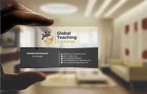Global Teaching Exchange Business Cards and Stationery  Draft # 182 by Deck86