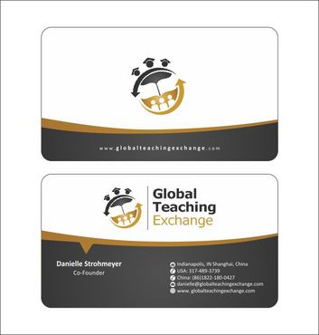 Global Teaching Exchange Business Cards and Stationery  Draft # 186 by Deck86