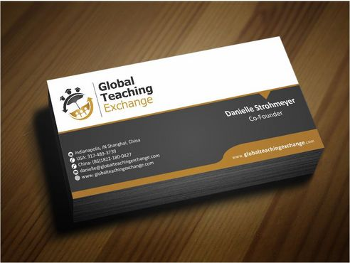 Global Teaching Exchange Business Cards and Stationery  Draft # 207 by Deck86