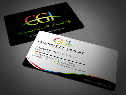 Integrity from the Ground Up Business Cards and Stationery  Draft # 177 by i3designer