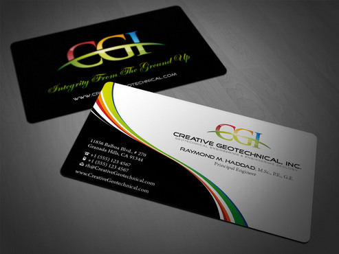 Integrity from the Ground Up Business Cards and Stationery  Draft # 183 by i3designer