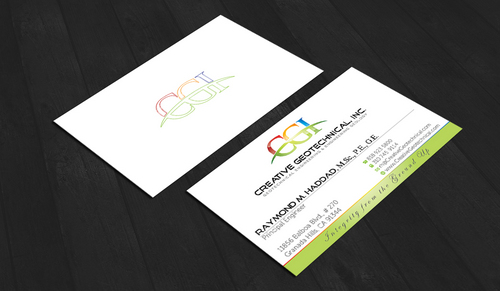Integrity from the Ground Up Business Cards and Stationery  Draft # 188 by waterdropdesign