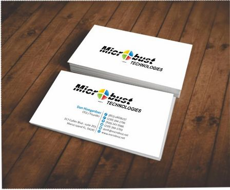 Microbust Technologies Business Cards and Stationery  Draft # 85 by Deck86