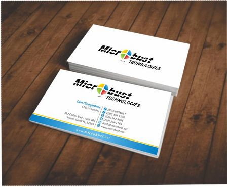 Microbust Technologies Business Cards and Stationery  Draft # 86 by Deck86
