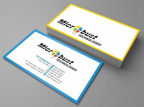 Microbust Technologies Business Cards and Stationery  Draft # 87 by Deck86