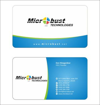Microbust Technologies Business Cards and Stationery  Draft # 128 by Deck86