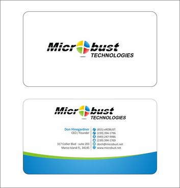 Microbust Technologies Business Cards and Stationery  Draft # 129 by Deck86