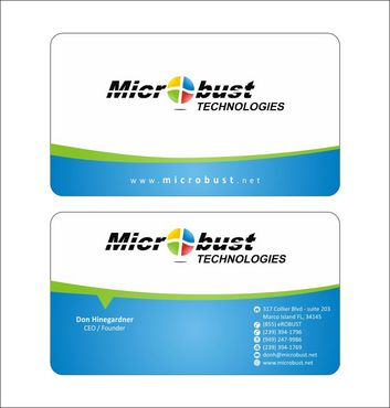 Microbust Technologies Business Cards and Stationery  Draft # 130 by Deck86