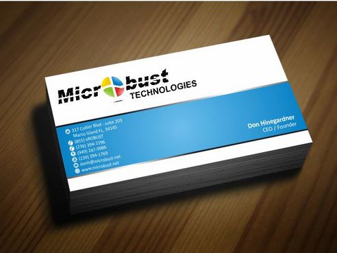 Microbust Technologies Business Cards and Stationery  Draft # 131 by Deck86