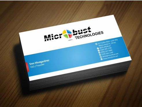 Microbust Technologies Business Cards and Stationery  Draft # 133 by Deck86