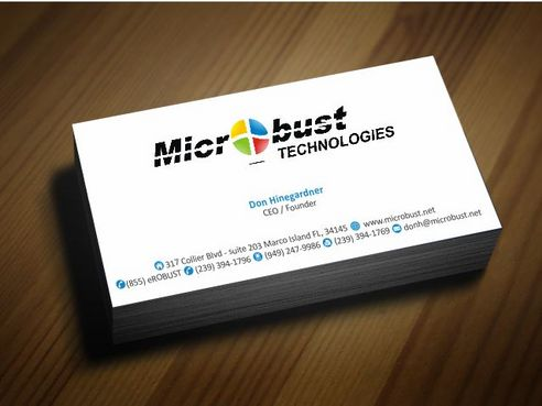 Microbust Technologies Business Cards and Stationery  Draft # 134 by Deck86