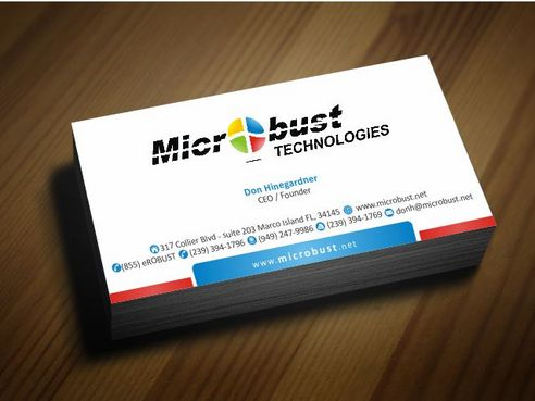 Microbust Technologies Business Cards and Stationery  Draft # 137 by Deck86