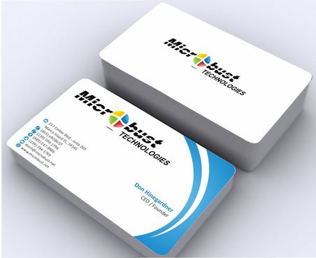Microbust Technologies Business Cards and Stationery  Draft # 140 by Deck86