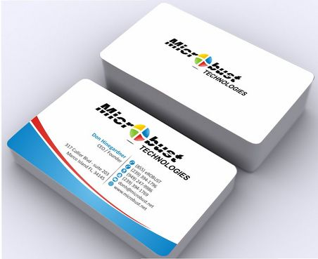Microbust Technologies Business Cards and Stationery  Draft # 141 by Deck86