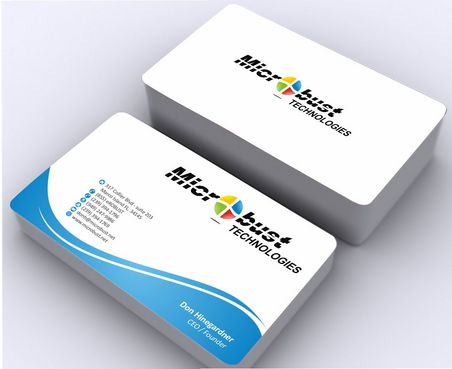 Microbust Technologies Business Cards and Stationery  Draft # 145 by Deck86
