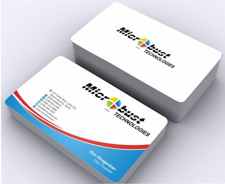 Microbust Technologies Business Cards and Stationery  Draft # 144 by Deck86