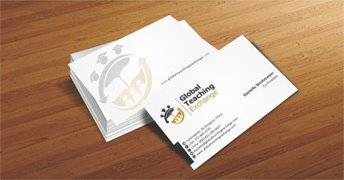Global Teaching Exchange Business Cards and Stationery  Draft # 217 by Deck86