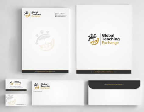 Global Teaching Exchange Business Cards and Stationery  Draft # 216 by Deck86