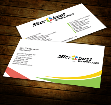 Microbust Technologies Business Cards and Stationery  Draft # 146 by jpgart92
