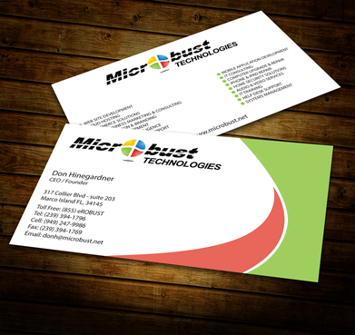 Microbust Technologies Business Cards and Stationery  Draft # 147 by jpgart92