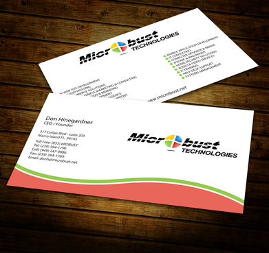 Microbust Technologies Business Cards and Stationery  Draft # 149 by jpgart92