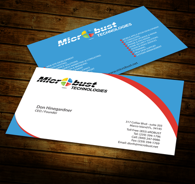 Microbust Technologies Business Cards and Stationery  Draft # 148 by jpgart92