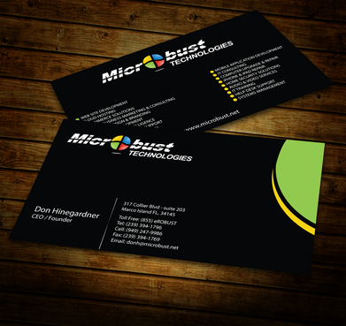 Microbust Technologies Business Cards and Stationery  Draft # 151 by jpgart92