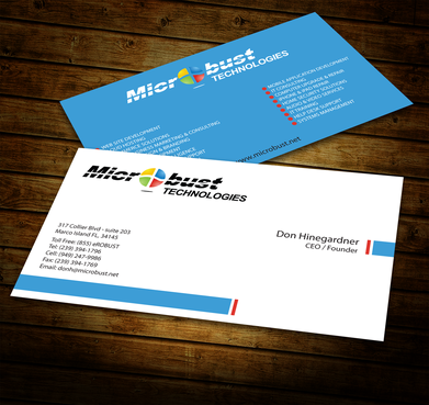 Microbust Technologies Business Cards and Stationery  Draft # 150 by jpgart92
