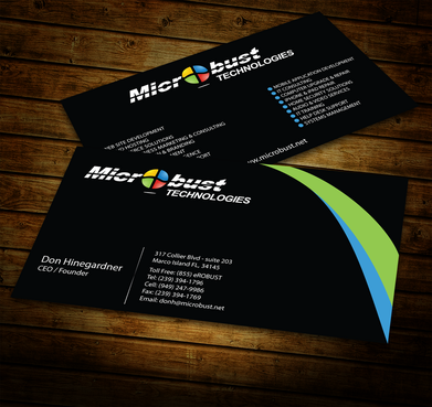 Microbust Technologies Business Cards and Stationery  Draft # 152 by jpgart92